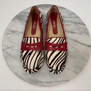 VANELI zebra print loafers